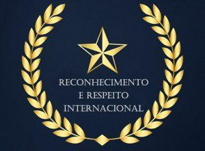 reconhecimento e respeito internacional